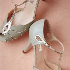 1eda60442d5 BHLDN Shoes - BHLDN Rachel Simpson Mimosa Mint T-Strap Heels